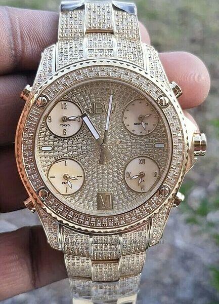 Мужские часы JBW с бриллиантами  2.34 CTW Diamond, новые