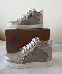 Кожаные ботиночки для девочки демисезонные ТМ Маtita 24-35р.