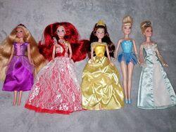 Принцессы Дисней, Бель, Золушка, Ариэль, Рапунцель