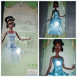Кукла принцесса дисней Тиана принцесса Лягушка в редком голубом платье
