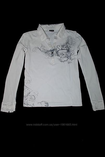 Реглан белый GERRY WEBBER с рисунком узором и стразами кофта