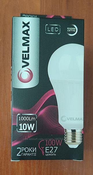 Светодиодная LED лампа Velmax V-A60, 10W, E27, 4100K, 1000Lm, угол 240