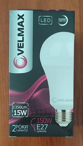 Светодиодная LED лампа Velmax V-A70, 15W, E27, 4100K, 1350Lm, угол 240