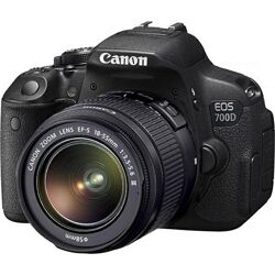 Зеркальный фотоаппарат Cannon Eos 700d  чехол, карта 128 гб, штатив