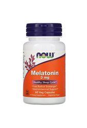 Мелатонин Nowfood, 3мг, 60растительных капсул