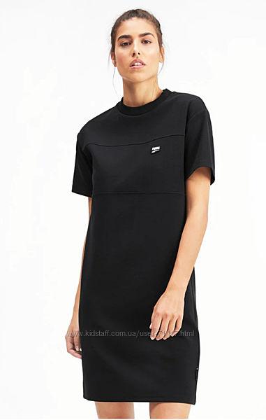 Платье спортивное Puma, короткий рукав S-M, чёрное