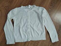 Белая кофта на пуговичках на 3-4 года от H&M