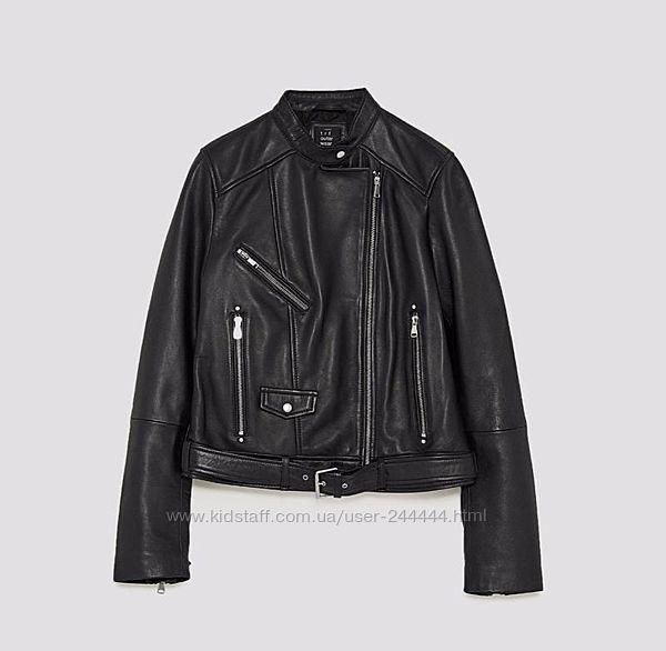 Кожаная куртка Zara, новая с биркой