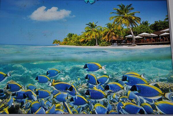 Пазлы 1500 шт картина большая 84,5х60 см остров Мальдивы яркий красочный