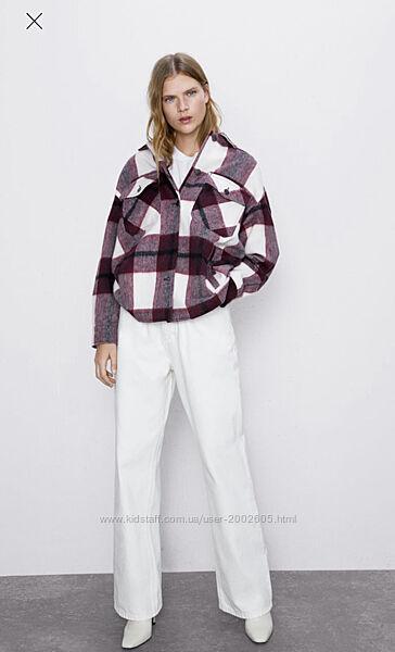 Куртка/сорочка в клітинку Zara Розмір M, L в наявності
