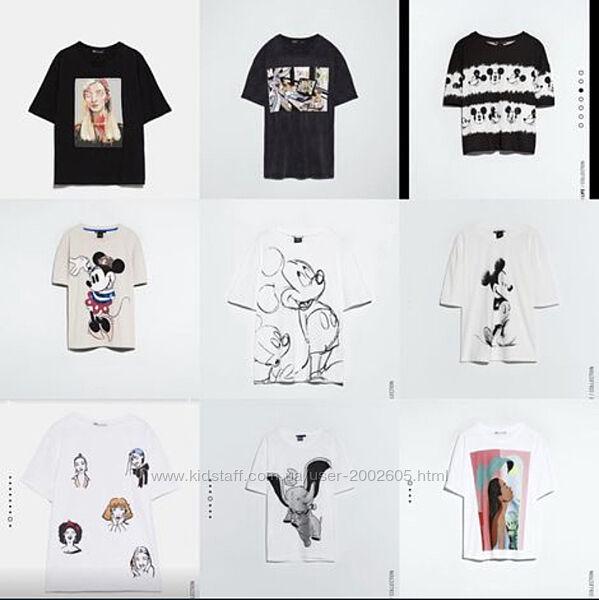 футболки з принтами Zara m, l в наявності