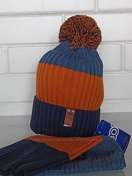 Комплект зима, шапочка на флисе Польша Agbo