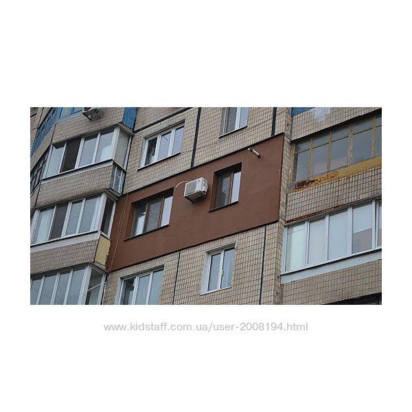 Утепление стен Николаев. Утепление фасада, высотные работы.