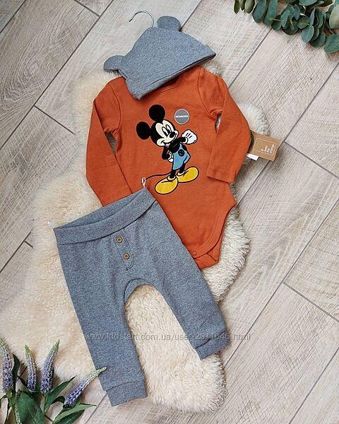 Костюм бодік штани шапка c&a костюмчик набор бодик штаны комплект