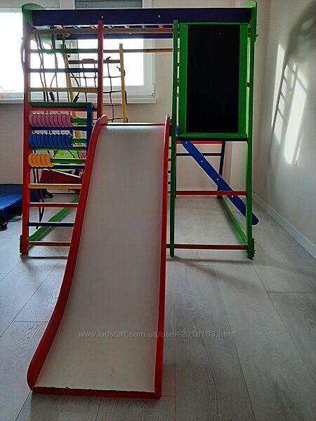 Спортивний комплекс дит. з 0 до 5 років з качелькою, гіркою, дошкою для мал