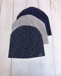 Нова демісезонна тонка подвійна шапка , шапочка нм хм h&m