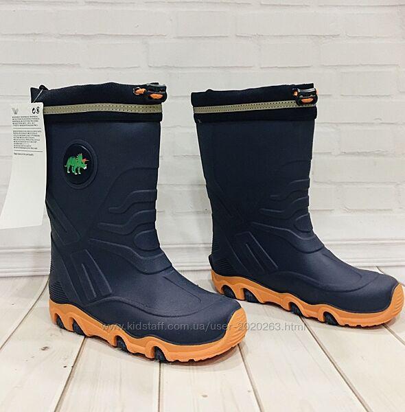 Нові непромокаючі резинові сапоги, сапожки, чобітки, чоботи h&m