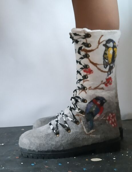Ботинки женские Снегири и синички