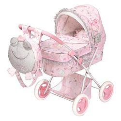 Коляска для кукол с рюкзаком Мария 85034