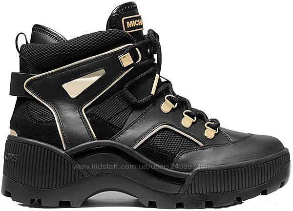 Ботинки демисезонные, кроссовки высокие черные кожаные Michael Kors ориг.