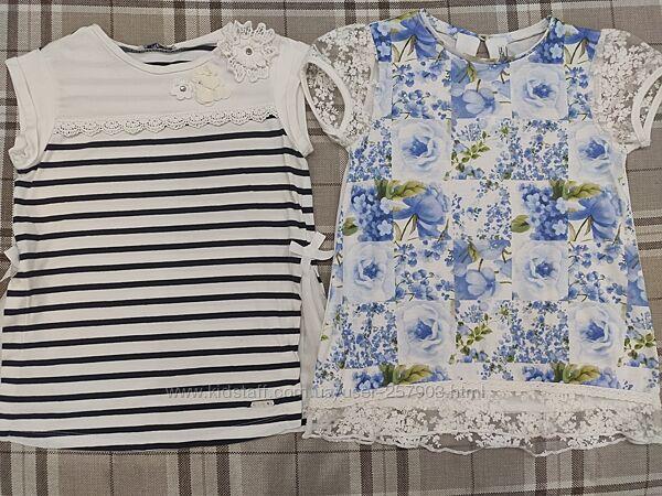 Продам красивые футболки на девочку фирмы Mayoral 134 размер9лет 8-10лет