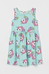 Летние сарафаны H&M для девочек 2-4, 4-6 и 4-6 лет