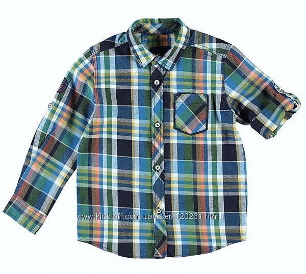 Стильная Клетчатая Рубашка-Хлопок-104см-Waikiki- Рубашки на подарок-104-128