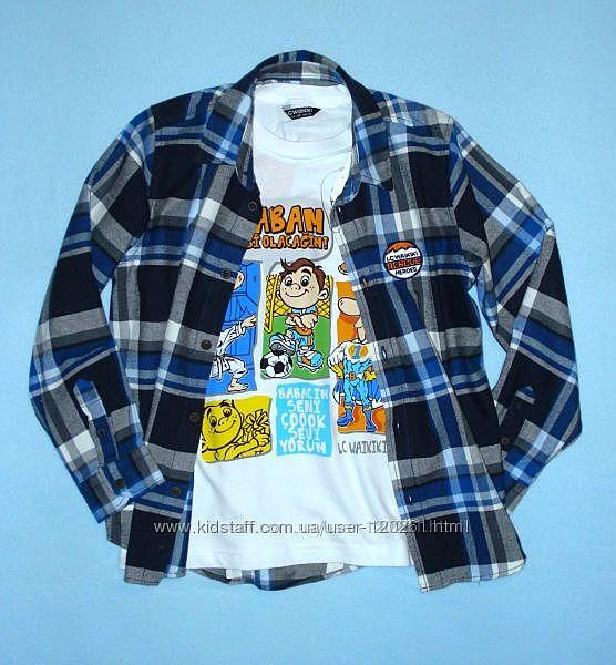 Рубашка-Хлопк. Фланель -128см- Хлопков. / Джинсовые Рубашки Waikiki 104-146см