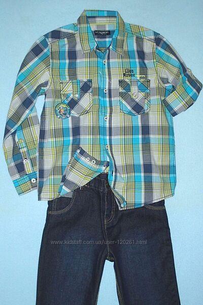 Рубашка-Шведка/Рукав подстегивается-128см-Рубашки LC Waikiki 104-134см