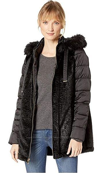 Удлинённая куртка пуховик, двусторонняя куртка разм. S