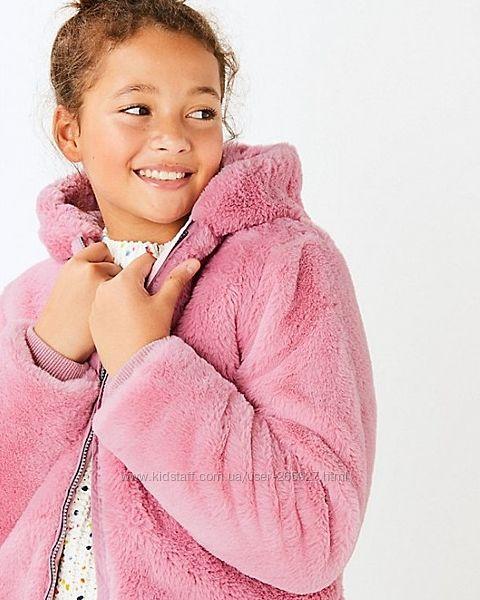 Куртка- шубка из искусственного меха Marks & Spencer разм 14-15 лет.