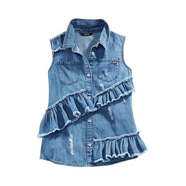 Джинсовая рубашка Guess разм 16 подростковый на 10-14 лет рост 152-166 см