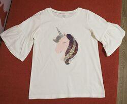 Блуза/футболка с коротким рукавом Carters с пайетками