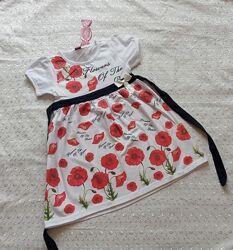 новое Летнее платье на девочку Маки