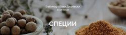 Вебинар Специи Юлия Дашевски