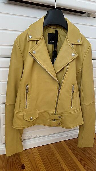 Кожаная куртка pinko, размер 40it XS-S, новая