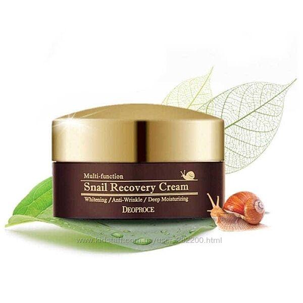 Восстанавливающий улиточный крем Deoproce Snail Recovery Cream  100 мл