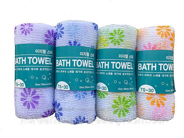 Пилинговая мочалка-полотенце для душа Tamina Easy-Well Shower Towel