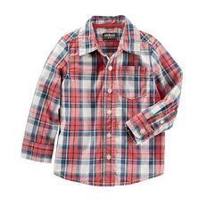 Рубашка ОшКош. 3Т и 5Т