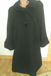Чёрное шерстяное пальто Atmosphere