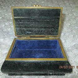 Шкатулка винтажная каменная- яшма
